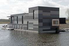 EQUITONE facade panels:Floating houses Lelystad