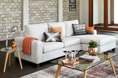 Central 3.5 Seater Fabric Sofa with Chaise by Evan John Philp