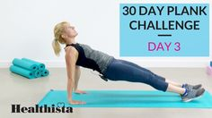 Healthista's 30 day plank challenge delivers you a new five minute plank-based workout every day during August, the most simple way to keep trim this summer