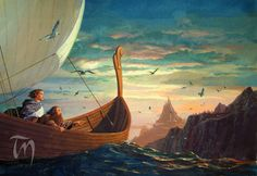 Legolas and Gimli are going in to the West ....to Valinor ❤️
