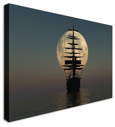 Pirate Ship by Abstract Art Canvas Printers, Canvas Art Cheap Prints by http://www.canvastown.co.uk