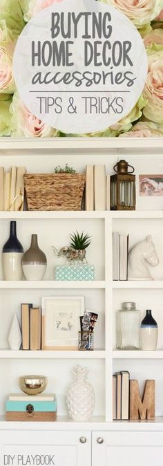 8 Tips for Buying Home Decor Accessories - DIY Playbook We get asked how we decorate our homes, so we figured we should share our tips for buying home accessories. Here are 8 tips to help you shop with a purpose. Kitchen Decorating, Decorating Your Home, Interior Decorating, Decorating Ideas, Decor Ideas, Renting Decorating, Decorating Websites, Apt Ideas, Decor Diy