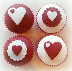 Resultado de imagen para valentines cupcakes