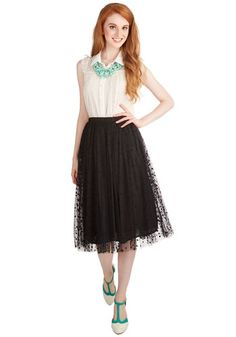 Have a Sway with Words Skirt. Fans will learn youre as elegant as you are eloquent when you arrive to your book signing in the fitted waist of this black tutu. #black #modcloth