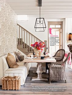 Home design and decoration design interior design design office de casas Decoration Chic, Decoration Design, Dining Room Chairs, Dining Furniture, Wicker Chairs, Dining Area, Dining Rooms, Dining Table, Trestle Table