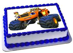Blaze and the Monster Trucks Edible Cake by Trendytreathouse