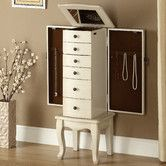 Found it at Wayfair - Jewelry Armoire with Mirror