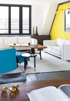 Petit appartement aménagement : les idées de Sarah Lavoine - Plus de photos sur Côté Maison http://petitlien.fr/72em