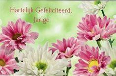 Hartelijk gefeliciteerd jarige! Happy Birthday, Plants, Paper Board, Happy Brithday, Urari La Multi Ani, Happy Birthday Funny, Plant, Planets, Happy Birth