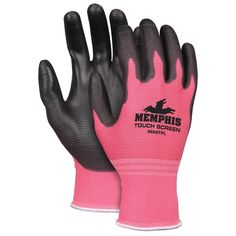 Memphis Touch-Screen Work Gloves #MCR #pinksafety #pinkhandprotection