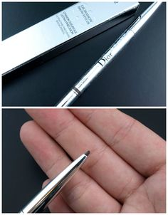 """Dior Diorshow Brow Styler Ultra-Fine Precision Brow Pencil in """"002 Universal Dark Brown"""": Review and Swatches Dior Makeup, Brows, Dark Brown, Swatch, Essentials, Pencil, Hair, Beauty, Eyebrows"""