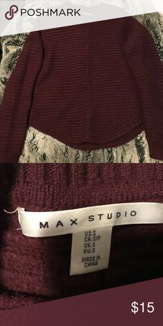Max Studio burgundy thick sweater Worn once thick nice material Sweaters