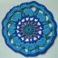 Crochet Mandala Wheel made by Margerita, Germany, for yarndale.co.uk