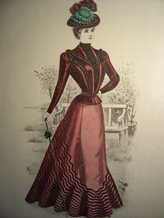 1898 VICTORIAN FASHIONS Pattern Advertisement by PapersAndMore, $10.00