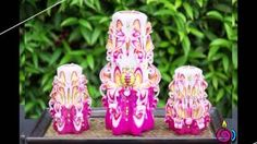 carving candles - YouTube