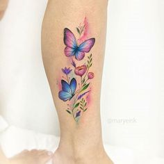 ▷ 1001 + ideas for tattoo on the foot, ankle or calf - tattoo feminina Butterfly Tattoos For Women, Foot Tattoos For Women, Butterfly Tattoo Designs, Mom Tattoos, Body Art Tattoos, Small Tattoos, Tatoos, Small Colorful Tattoos, Tattoos Skull