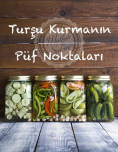 Pickles Setting Up Tricks - Kitchen Secrets - Practical Recipes Trick 17, Healthy Facts, Food Tags, Food Picks, Seasonal Food, Turkish Recipes, Cute Food, Winter Food, Food Design