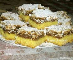 Hungarian Desserts, Hungarian Recipes, Poppy Cake, Cake Recipes, Dessert Recipes, Dessert Bars, Cakes And More, Bread Baking, Cake Cookies