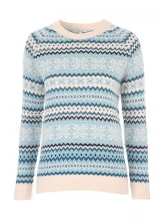 Make a patterned addition to your collection of seasonal knitwear essentials with this women's jacqaurd fairisle jumper. With a crew neck and a ribbed hem, cuffs and neckline, this jumper is a cute and cosy option for the festive season.