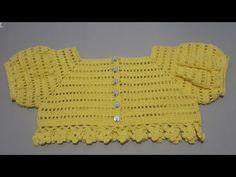 Crochet Girls Dress Pattern, Crochet Yoke, Crochet Basket Pattern, Baby Knitting Patterns, Crochet Baby Sweaters, Crochet Baby Clothes, Crochet Baby Hats, Crochet Capas, Diy Bebe