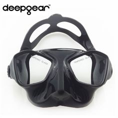 DEEPGEAR low volume tempered lens spearfishing and freediving mask silicone diving mask top spearfishing gear diving gears