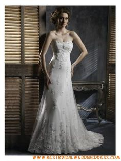 Cheap Hot Sell Casual low back Wedding Dress
