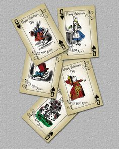 Queen of Hearts Alice in Wonderland Gift Tags by TheRedStarDesigns, $6.00