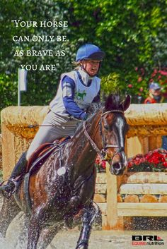 """""""Your horse can only be as brave as you are"""" #BRLequine #eventer #xcountry"""