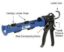 CRL 26 to 1 Ratio Wexford Deluxe Strap Frame Caulking Gun by CR Laurence