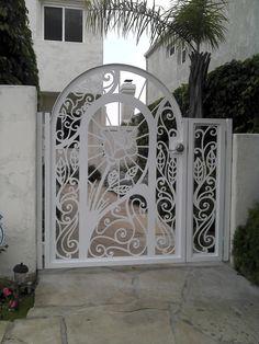 Metal Gate Panel Custom Walk Pedestrian Ornamental Iron Garden Art Made in USA   eBay