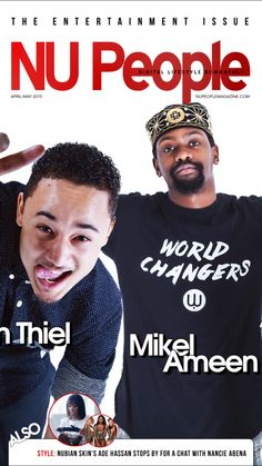 Sebastian Thiel & Mikel Ameen | The Entertainment Issue | April/May 2015 #NUPeople