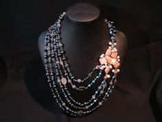 I made this necklace after driving through a huge storm on our family vacation to the Black Hills. My Wife Is, Pearl Necklace, Jewelry Design, Pearls, Vacation, Black, Fashion, Vacations, Moda