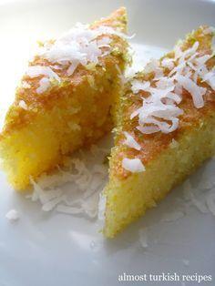 Almost Turkish Recipes: Semolina Sponge Cake (Revani) #turkishfood