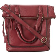 Marc New York by Andrew Marc Shayla Messenger ($80) ❤ liked on Polyvore featuring bags, messenger bags, crimson, flat bags, marc new york messenger bag, handle bag, marc new york and red bags