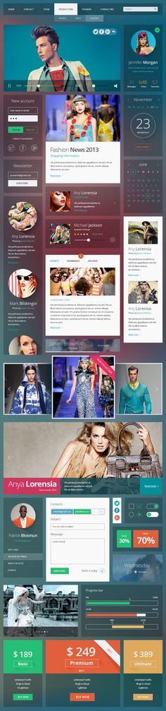 Shapes UI Kit (PACK CONTAINS 100 DIFFERENT ELEMENTS) #design #grahics