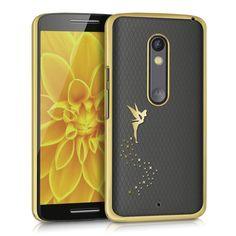 kwmobile Elegante e leggera custodia Crystal Case Design fata per Motorola Moto X Play in oro trasparente:Amazon:Elettronica