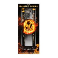 The Hunger Games Movie - Pen and Mechanical Pencil set `Katniss and Peeta District 12`