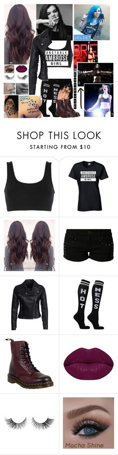 """""""Match Against Juliet Orton"""" by j-etblackheart ❤ liked on Polyvore featuring adidas Originals, WWE, even&odd, New Look, Dr. Martens and Winky Lux"""