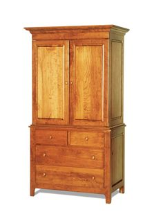 Amish Shaker Wardrobe Armoire
