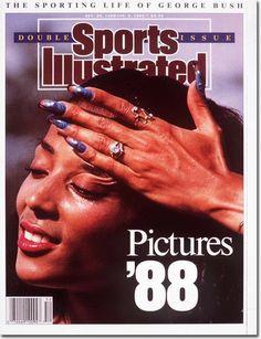 Flo Jo, Si Cover, The Sporting Life, Black Magazine, Vintage Black Glamour, Black Goddess, American Sports, American Art, Runners World