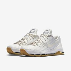 on sale cb596 a2af3 Photos of the Nike KD 8 EXT White Woven, style color Sail Sail-Chrome-Black.