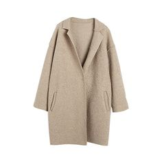 Biscuit Boyfriend Coat (260 CHF) ❤ liked on Polyvore featuring outerwear, coats, jackets, coats & jackets, brown coat and boyfriend coat