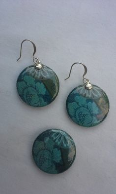 Floral Magnet & Earrings Set by LucidLizardJewelry on Etsy