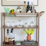 10 Beautifully Styled Bar Carts Worth Throwing a Party For   Apartment Therapy