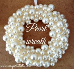 Christmas decorations: diy pearl wreath by Caseperlatesta