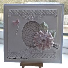 Hi everyone,I have a quick and easy card to post for you to see, the main feature is the flower & leaf which is just a couple of new Tattered lace dies being launched very soon, Also used Spell...