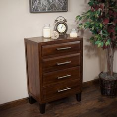 The Glendora Solid Wood Dresser is the perfect storage piece to complete your bedroom decor. Made from acacia wood, this dresser features three (3) large sliding drawers and one (1) small top drawer. This chest of drawers is a wonderful organizational option for tucking away items, and the... more details available at https://furniture.bestselleroutlets.com/bedroom-furniture/dressers/product-review-for-glendora-brown-mahogany-solid-wood-four-drawer-storage-dresser/