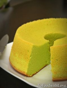 This is my first chiffon cake, and I resorted to using durian and pandan extract/paste in making itasI didn't have any pandan leaves nor ...
