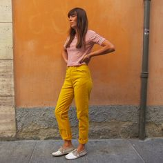 Benetton jeans gialli 27