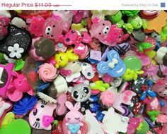 On Sale 25pc kawaii cabochons assorted mix grab by bunnysundries, $5.50